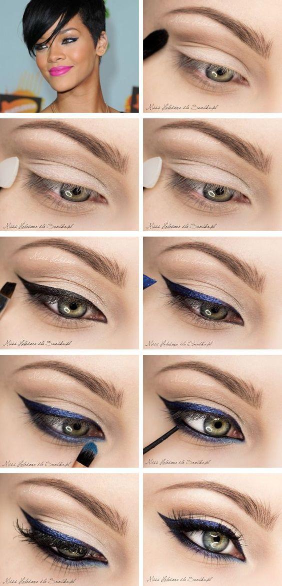 eyeliner application for different eye shapes