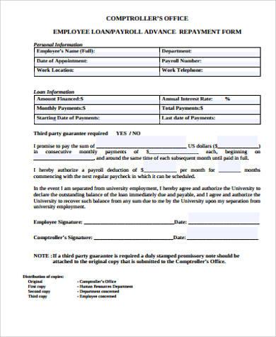 loan application form in word format