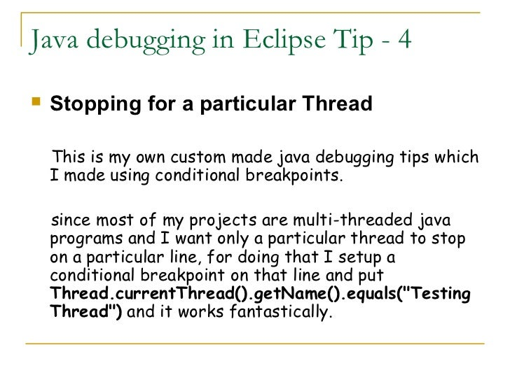 how to debug java web application in eclipse