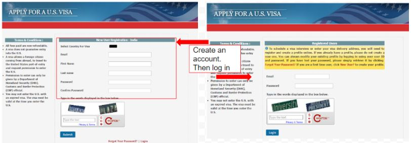 how to pay visa application fee