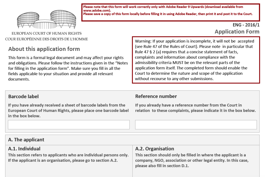 human rights commission application form