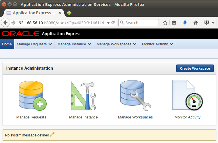 oracle application express administration services