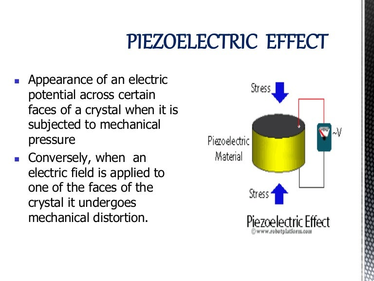 piezoelectric materials and their applications