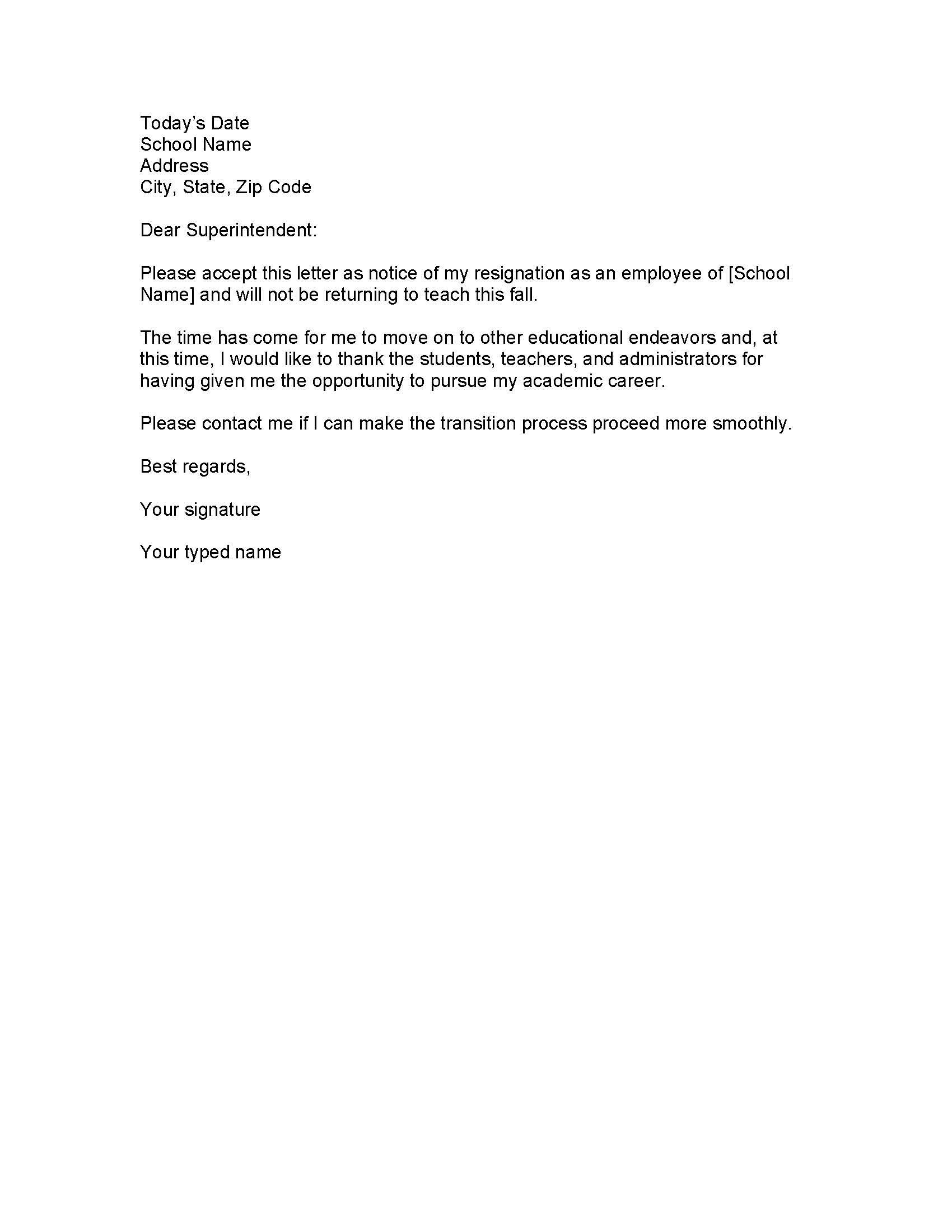 sample cover letter for job application for teacher