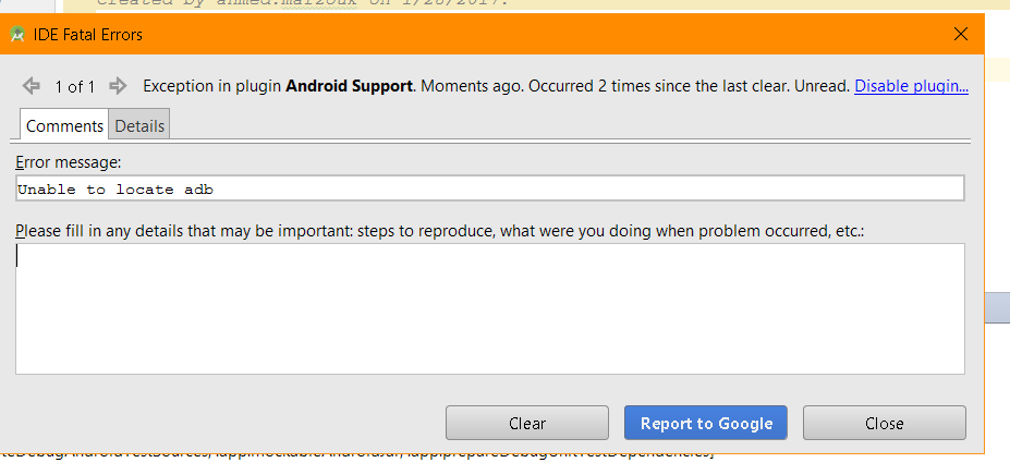 unable to launch the application java