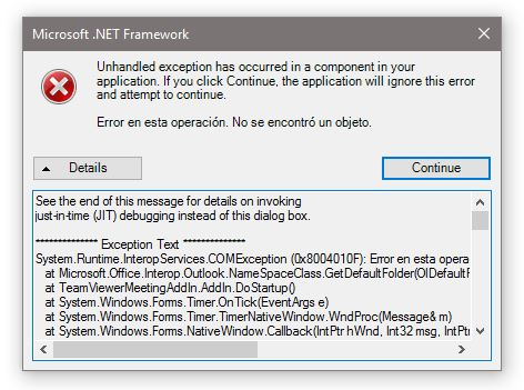 unhandled exception has occurred in your application net framework