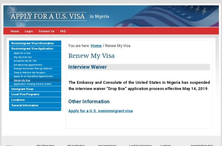 us embassy visa renewal application