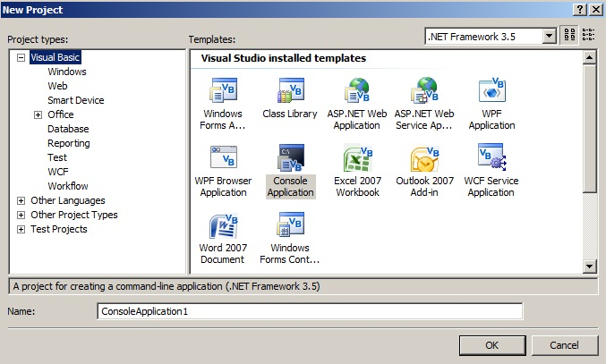 visual basic console application samples