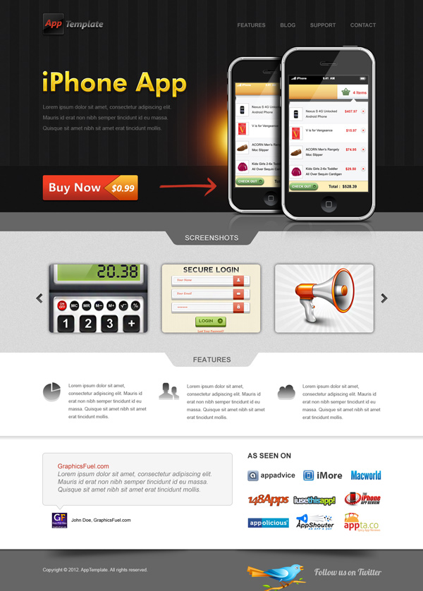 web application templates free download